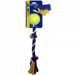 Medium 3-Knopen touw  38 cm met Tuff Ball (6 cm)
