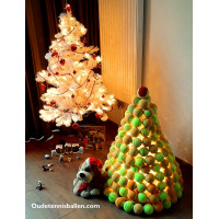 Tennisballen kerstboom