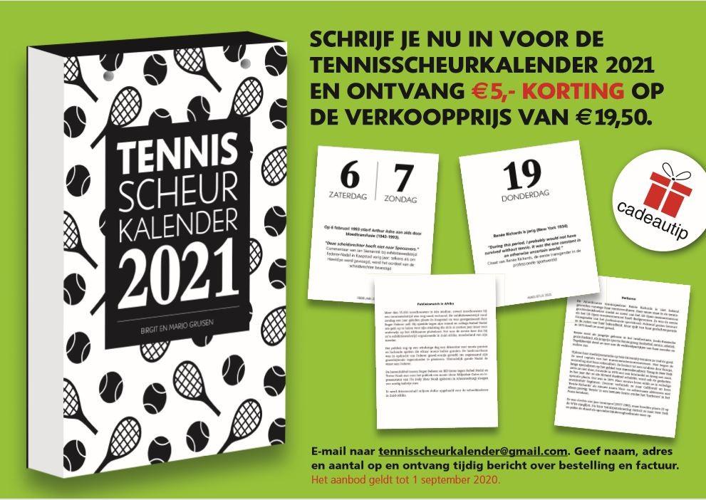 De Tennisscheurkalender 2021